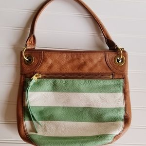 Fossil Hobo Handbag Mint/brown